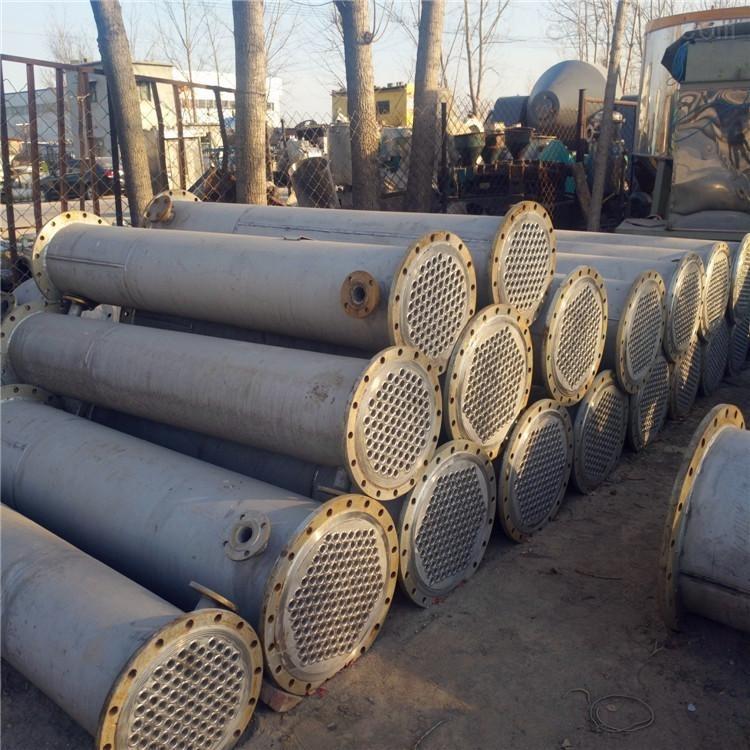 出售二手500平方列管式不锈钢冷凝器