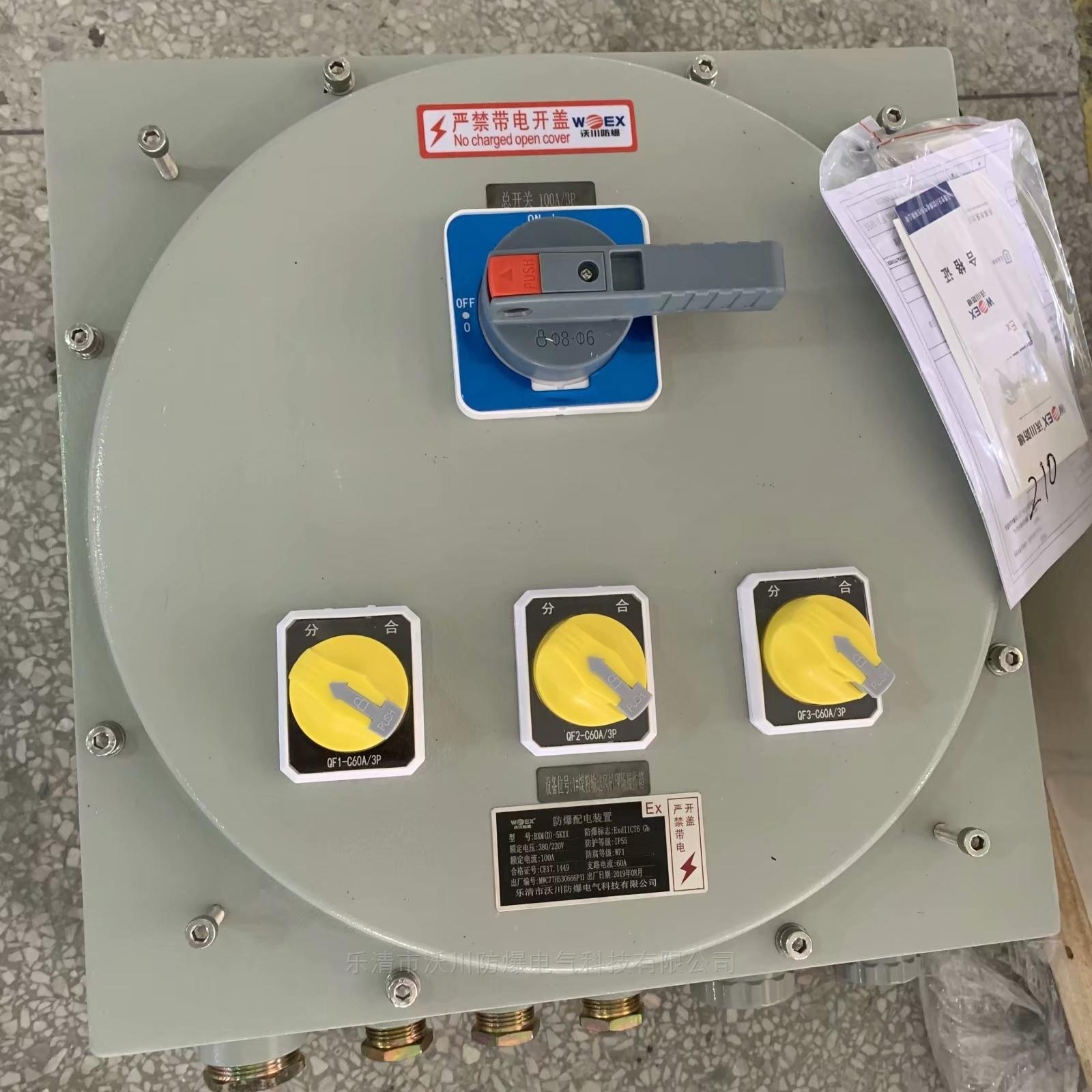 BXM51-K/XX氣體粉塵兩用防爆照明配電箱