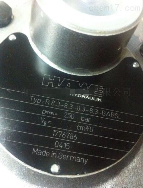 哈威液压泵R8.3-8.3-8.3-8.3-BABSL月底到货