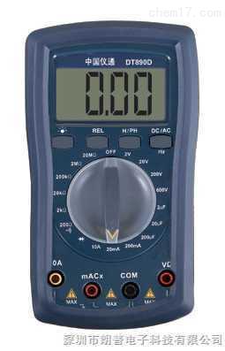 伊万│DT890D普及型自复式电子全保护数字万用表