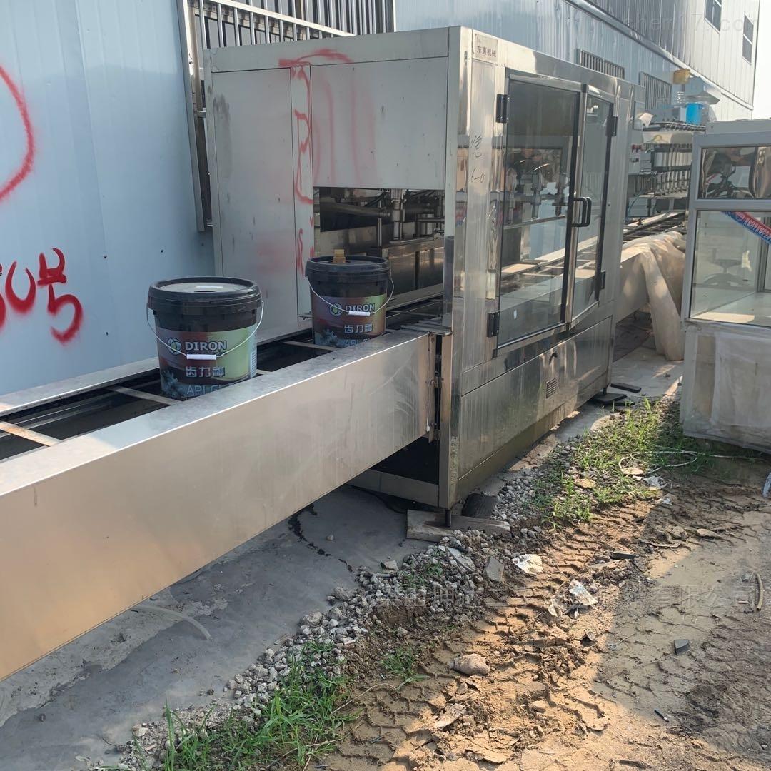 二手高粘度润滑油桶 6头直线灌装机 压盖机