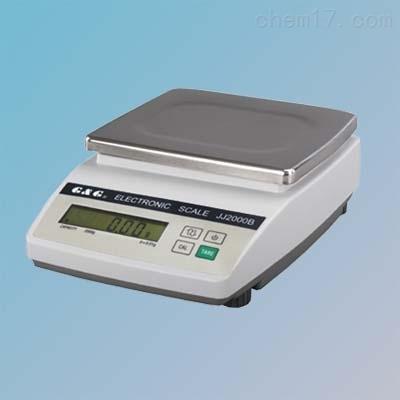 JJ2000B百分之一天电子天平秤2kg 0.01g