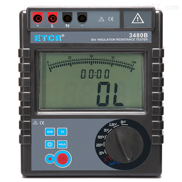 铱泰ETCR3480B绝缘电阻测试仪 兆欧表规格
