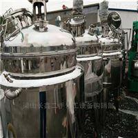 大量转让闲置二手1吨不锈钢电加热反应釜