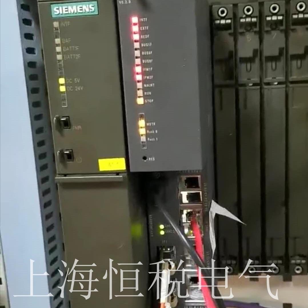 西门子S7-400CPU启动所有指示灯全亮维修