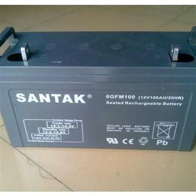 6GFM100山特铅酸免维护阀控式蓄电池12V100AH