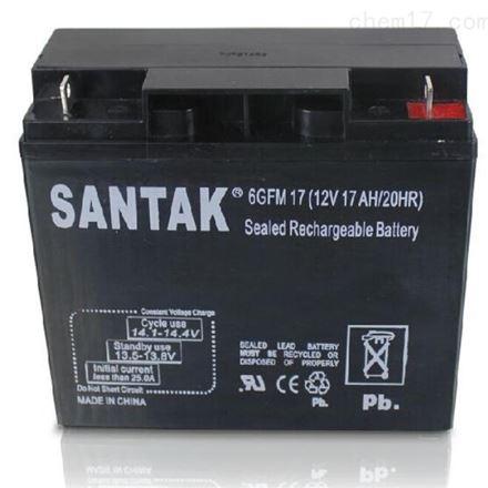 山特铅酸免维护蓄电池12V17AH UPS电源