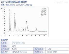 C5-C7烷烃和乙醇的分析