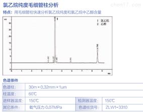 氯乙烷纯度毛细管柱分析