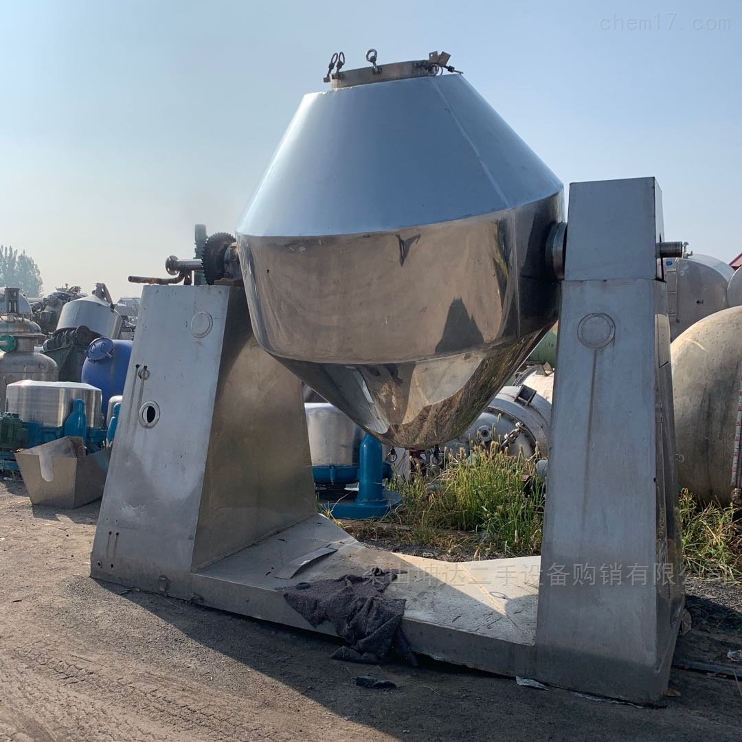 出售二手5000L搪瓷双锥干燥机