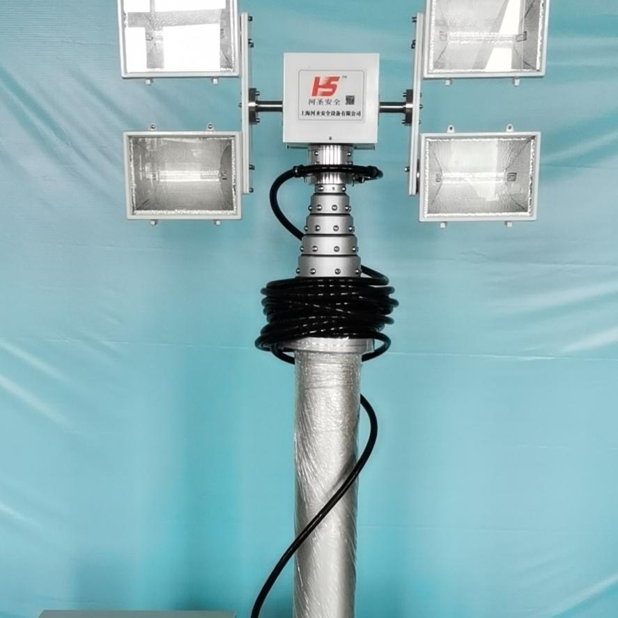 移动消防照明灯 车顶升降照明设备 河圣牌