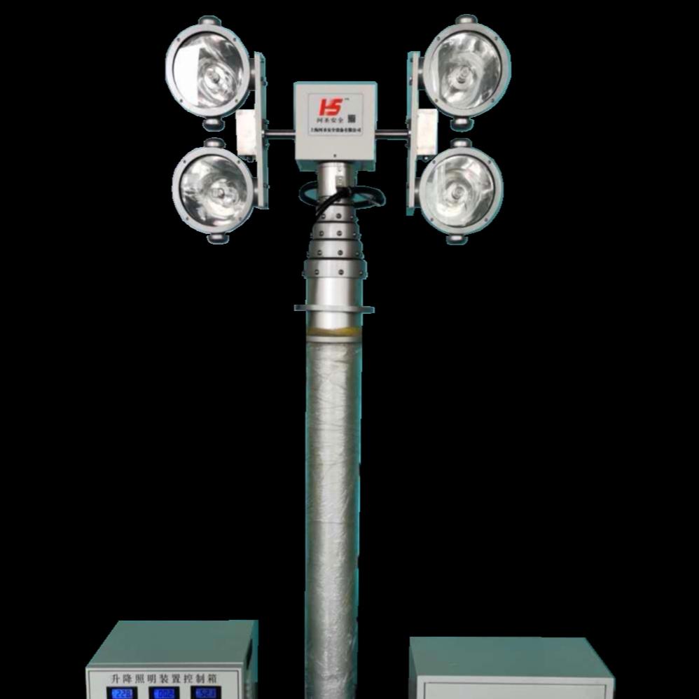 车载照明系统升降探照灯