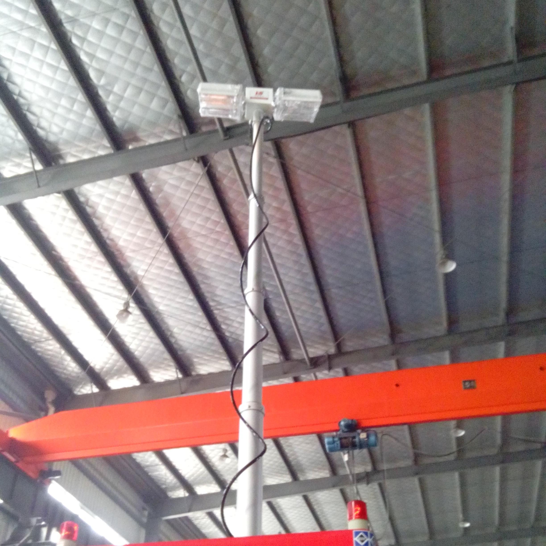 移动升降照明平台 车顶倒伏机构 便携式