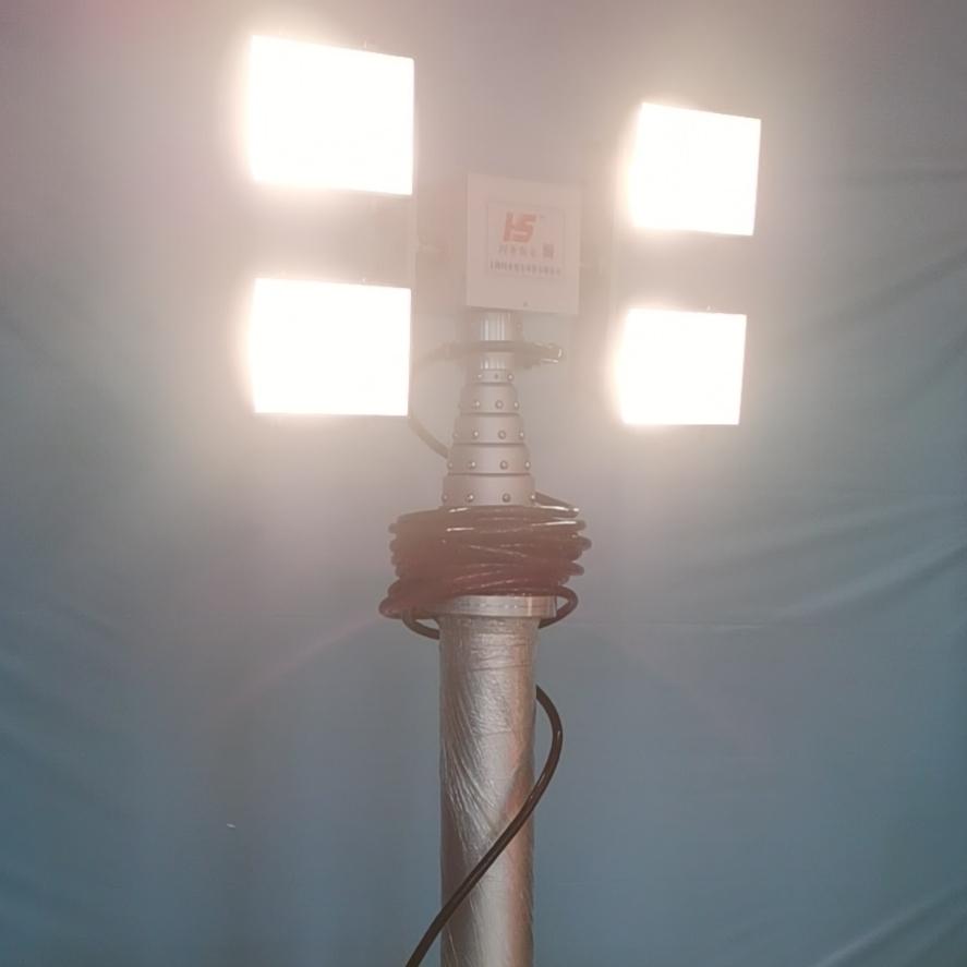 2.5米照明系统 排涝车升降照明 气动桅杆