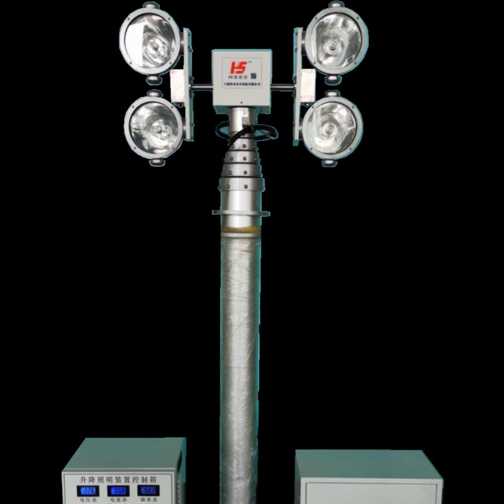 直立式升降灯 6灯头泛光灯 移动应急灯