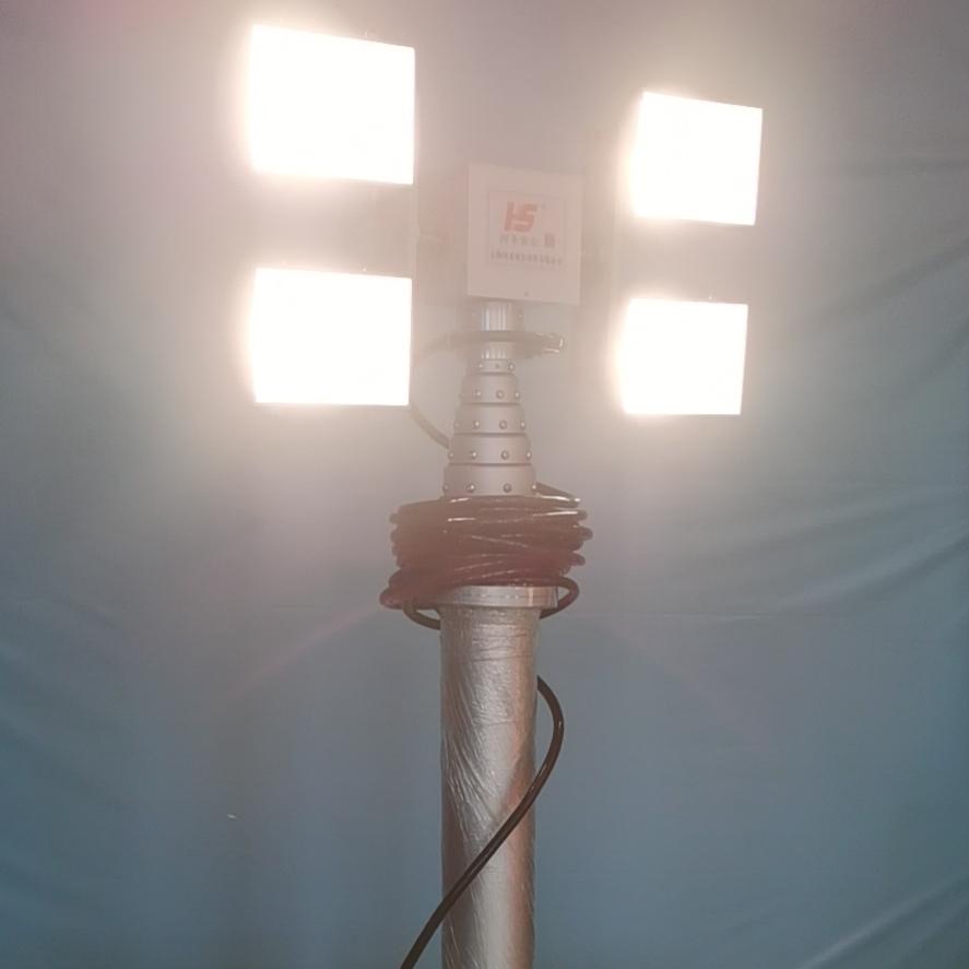 河圣牌升降探照设备 升降照明灯组