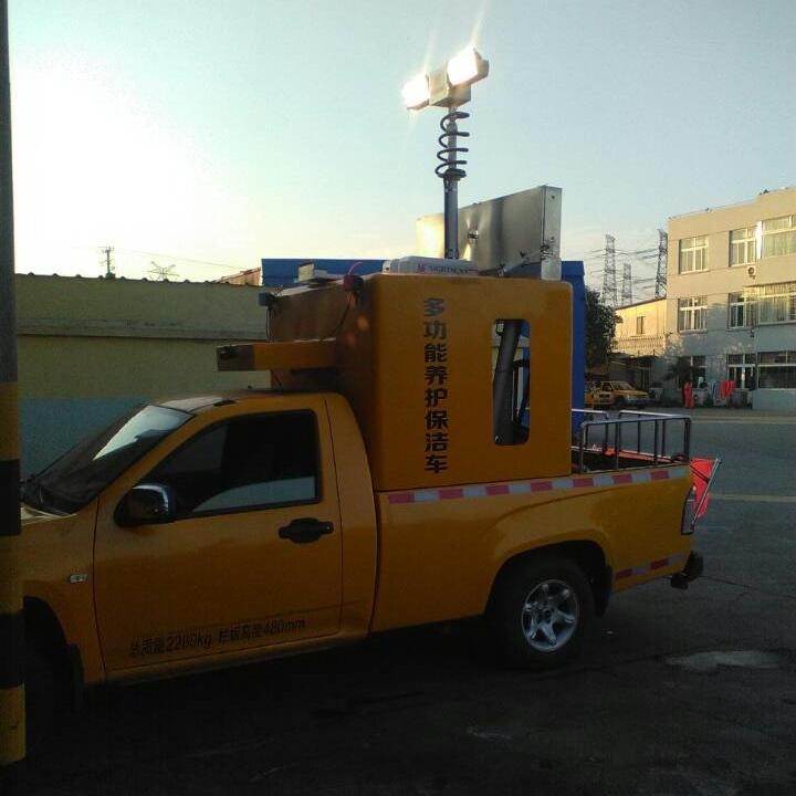 上海河圣 气动升降杆照明装置 4灯头照明灯