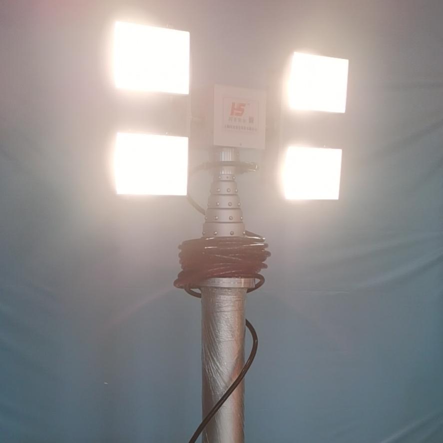 应急桅杆立杆照明升降探照灯LED车载升降