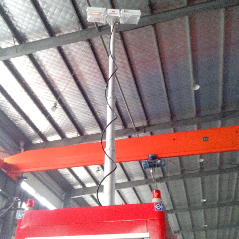 河圣安全 气动升降杆照明装置 升降照明设备