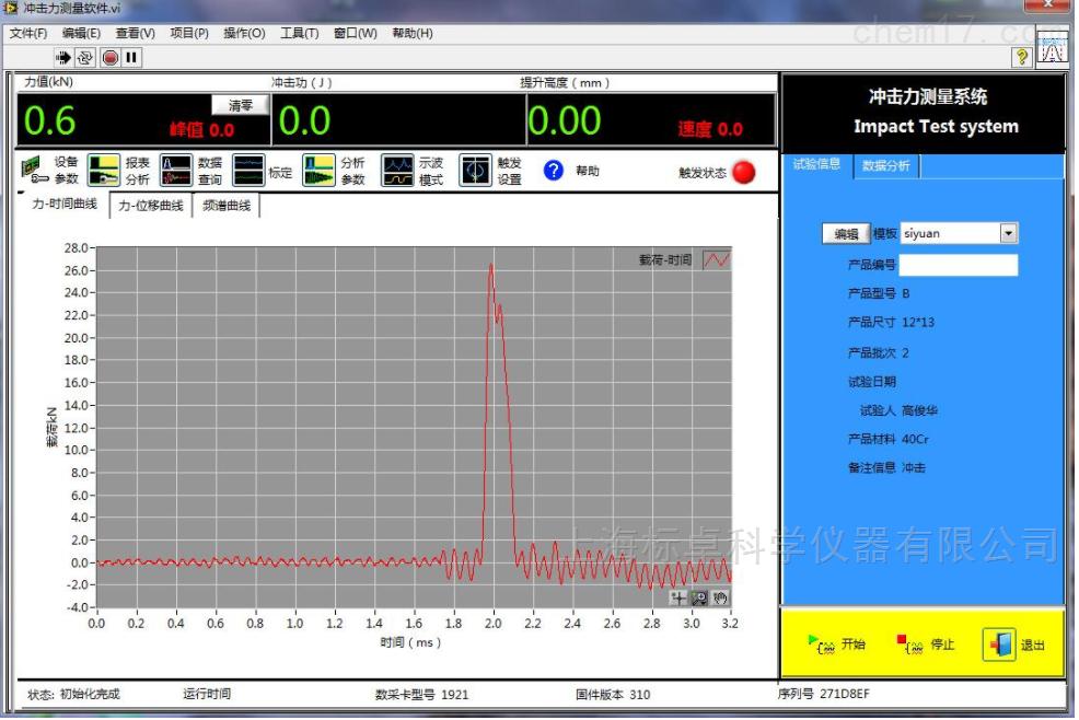 安全帽沖擊吸收性能試驗和側向剛性試驗系統