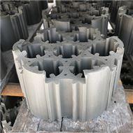 焦化脱硫塔填料七孔弧形环安装方法