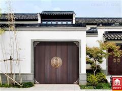 中式实木折叠车库门