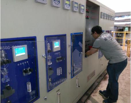 山西國峰煤電 鍋爐水汽水取樣架PH 電導率 硅酸水質監測項目