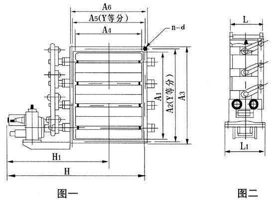脱硫挡板门结构图