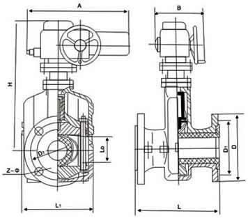 电动管夹阀结构图