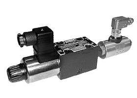 Parker派克D1VW/D1DW系列带电感位置控制电磁换向阀