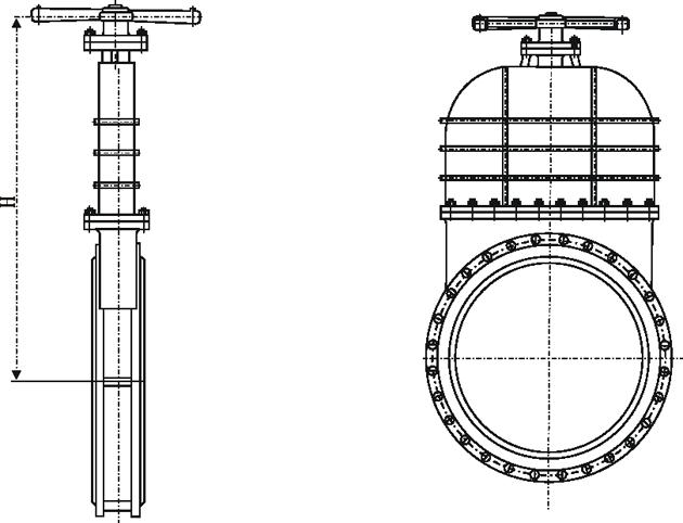 对夹式污水闸阀DMZ43