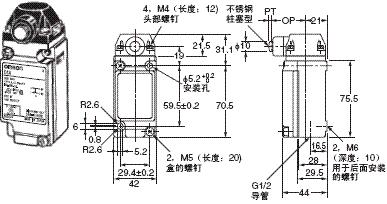 D4A-□N 外形尺寸 15 D4A-3[]06N_Dim