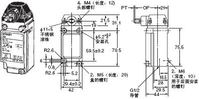 D4A-□N 外形尺寸 17 D4A-3[]07-HN_Dim