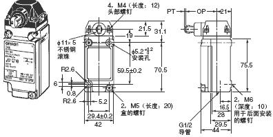 D4A-□N 外形尺寸 19 D4A-3[]07-VN_Dim