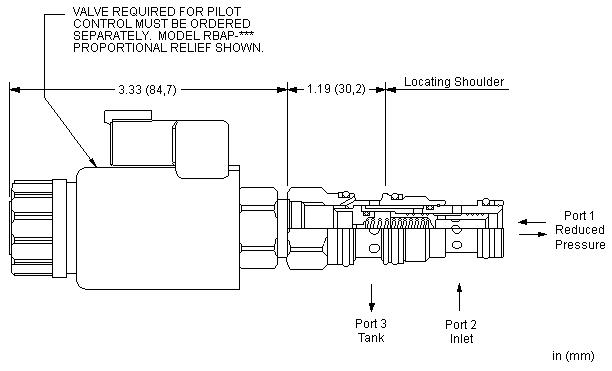 PPDF8 : 先导控制式, 减压/溢流 主级 带钻入式阀芯阻尼孔 和 集成T-8A控制插孔