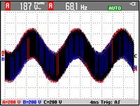 手持式数字示波器(表)信号显示