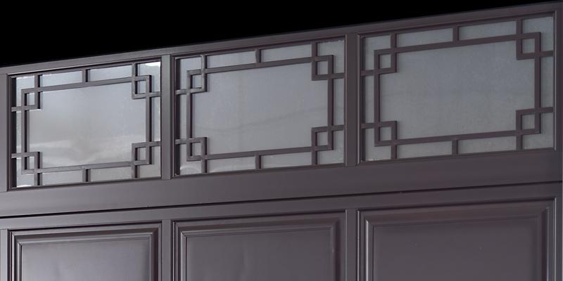 中式铝合金车库门视窗材质